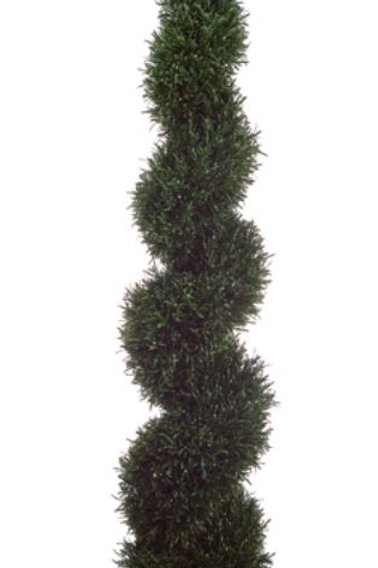 4' Artificial Pond Boxwood Spiral Topiary in Plastic Pot