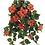 """Thumbnail: Silk Hibiscus Hanging Flower Bush -26"""" Long"""