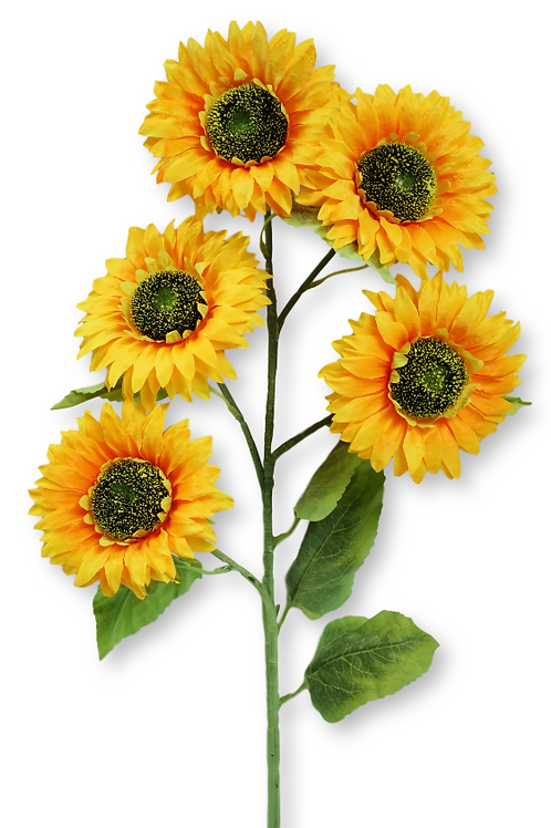 """37"""" Artificial Sunflower Spray with 5 flowers"""