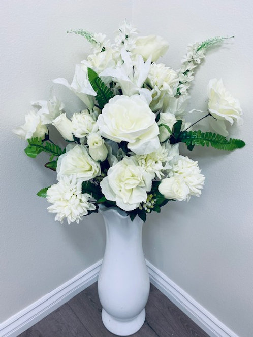 """34"""" GIANT MIXED FLOWER BUSH WITH ROSE, LILY, MUM, DELPHINIUM"""