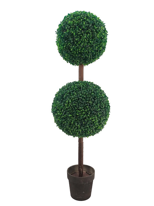 "60"" H UV Protected Boxwood & Ivy Double Ball Topiary"