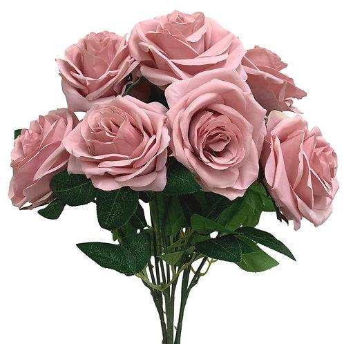 "18"" Open Rose Bush x10 (FB662-MAUVE)"