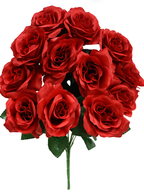 Satin Rose Bush x 12 -17""