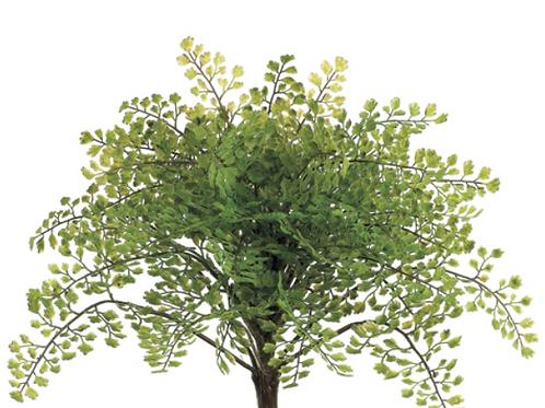"Artificial Petite Maidenhair Fern Bush -14"" Long"