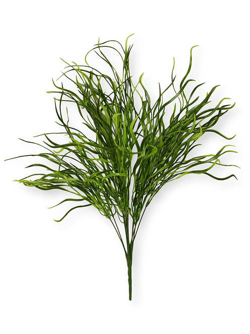 "25"" Plastic Grass Bush with 14 Stems"