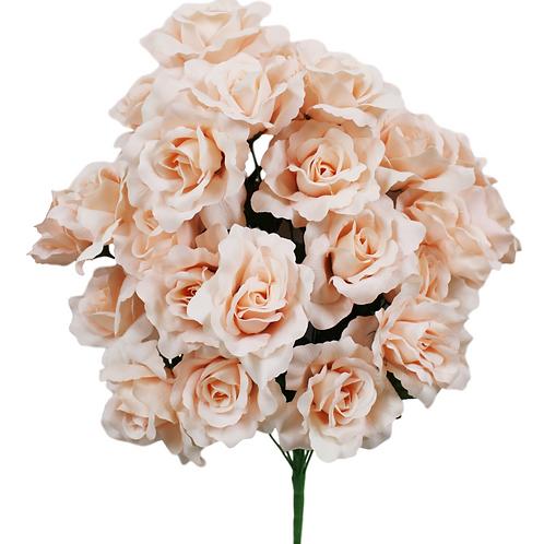 "Blush Pink Silk Rose Bush x 24 -24"" Long"