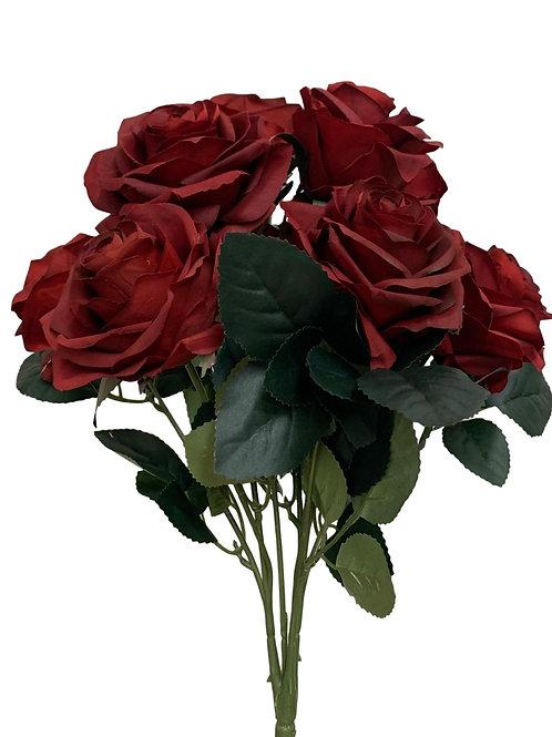 "18"" Open Rose Bush x10 (FB662-BURGUNDY)"