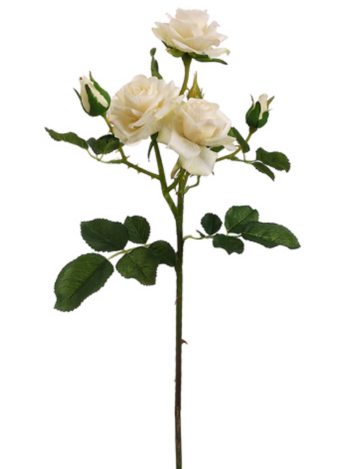 "22.5"" Rose Spray in Cream Color"