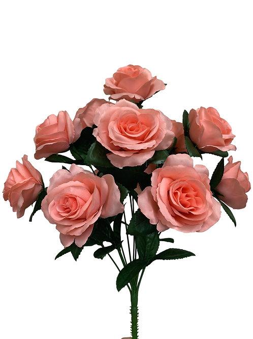 """17"""" Satin Rose Bush x 12 (30388&INT398-ROSE)"""