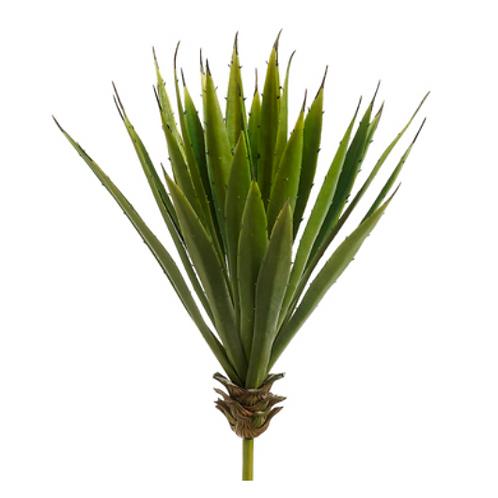 "Plastic Spike Aloe Plant -15"" H X 8""D"
