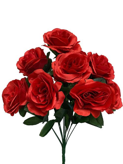 "17"" Satin Rose Bush x 12 (INT398-Red)"