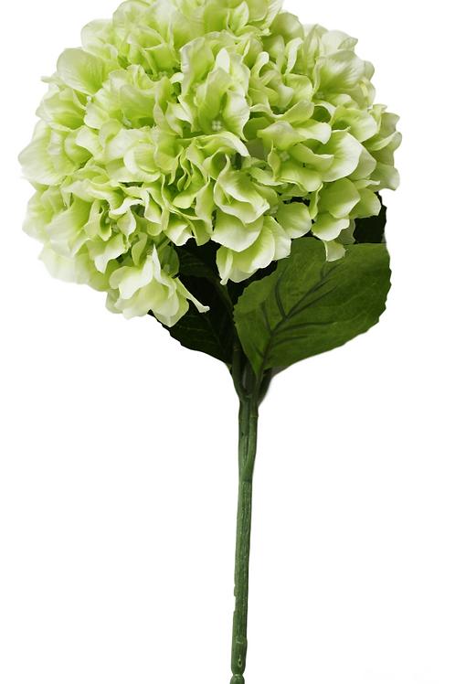 """Silk Green Single Stem Hydrangea - 33"""" Long"""