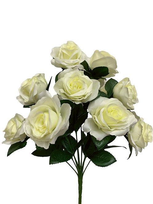 "17"" Satin Rose Bush x 12 (30388&INT398-CR)"