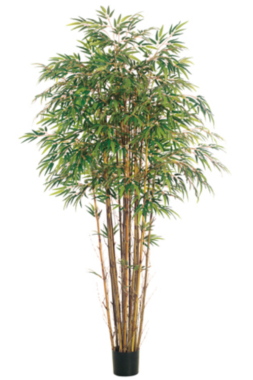 7' Natural Trunk Bamboo Tree x 17 with 2560 leaves
