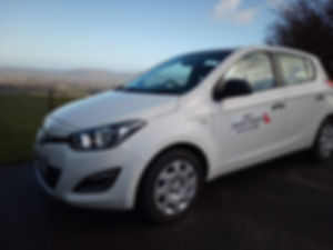 Driving school car - Hyundai i20 Rhyl driver training offers the very best training in the Ruthin area.