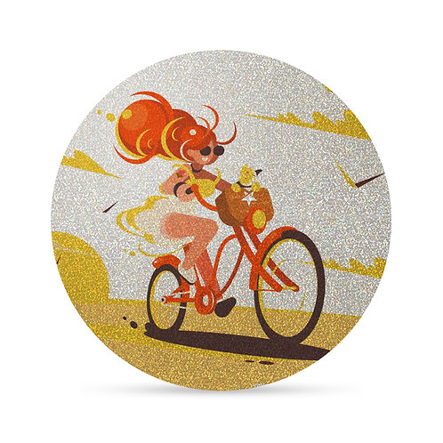 Flash Girl on Bicycle