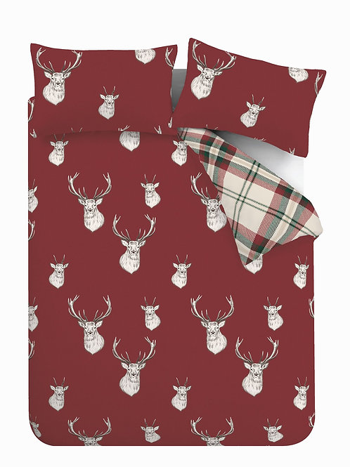 CATHERINE LANSFIELD Munro Stag Check Single Duvet Cover