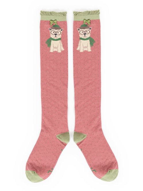 POWDER Winter Westie Knee High Socks