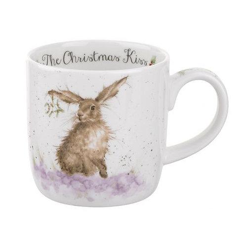WRENDALE The Christmas Kiss Hare Mug