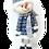 Thumbnail: BLUE CHRISTMAS Standing Spring-legs Snowman