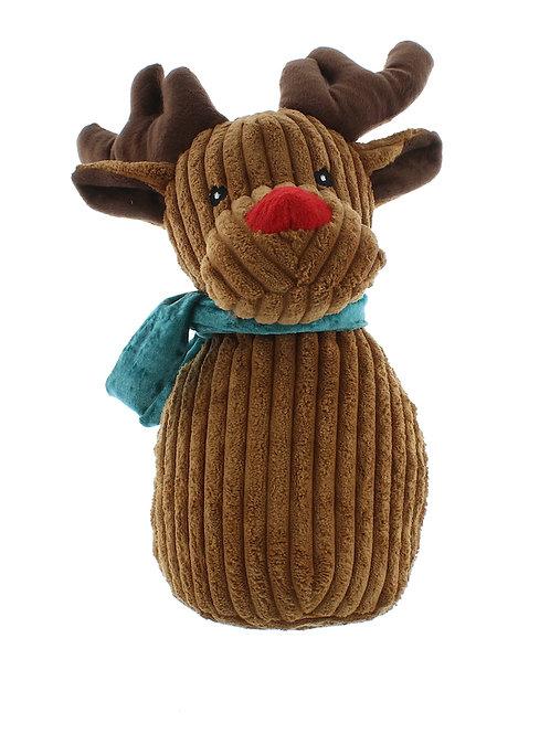 FESTIVE Brown Plush Reindeer Doorstop