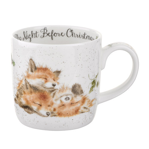 WRENDALE The Night Before Christmas Foxes Mug