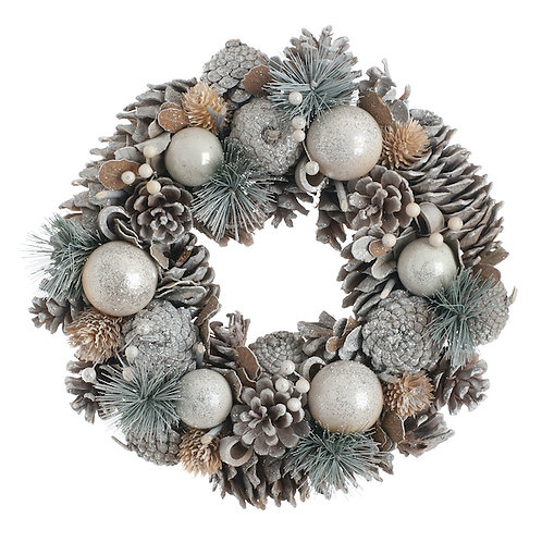 FESTIVE Pinecone Bristle Wreath Box