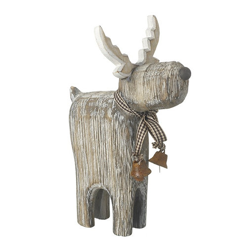 HEAVEN SENDS Standing Wooden Deer