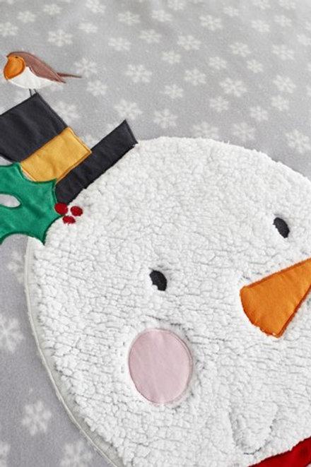 CATHERINE LANSFIELD Cosy Snowman Double Duvet Set