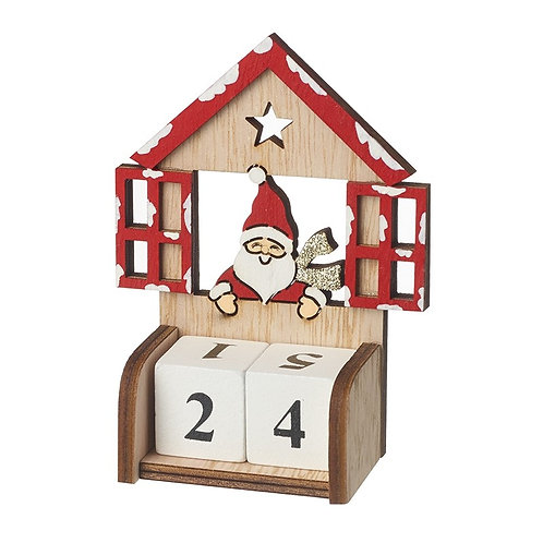 HEAVEN SENDS Wooden Santa Count Down To Christmas