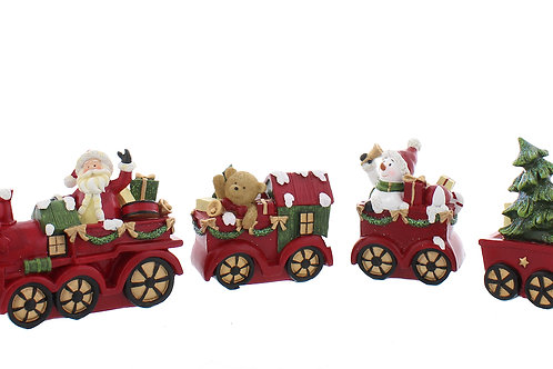 FESTIVE Santa Christmas Train Set of 4