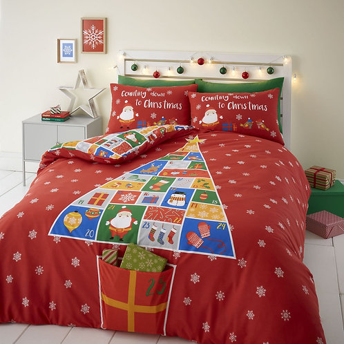 CATHERINE LANSFIELD Countdown to Christmas Double Duvet Cover