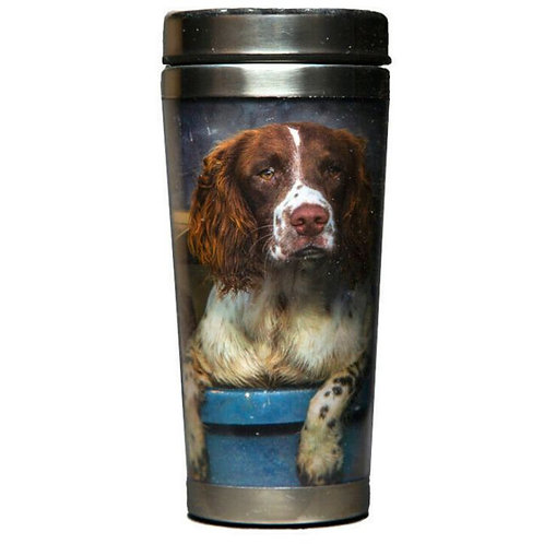 COUNTRY MATTERS Travel Mug - Spaniels in Landy