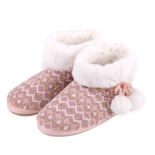 TOTES Fair Isle Boot Slippers