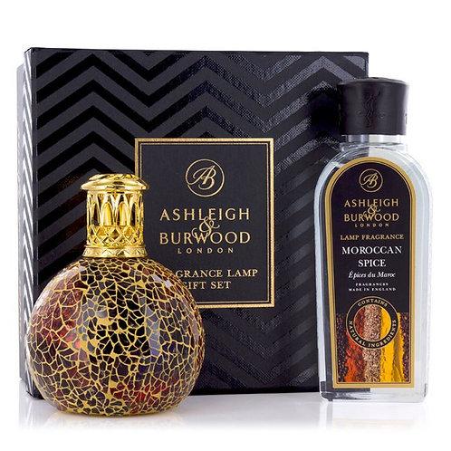 ASHLEIGH & BURWOOD Fragrance Lamp Golden Sunset Gift Set
