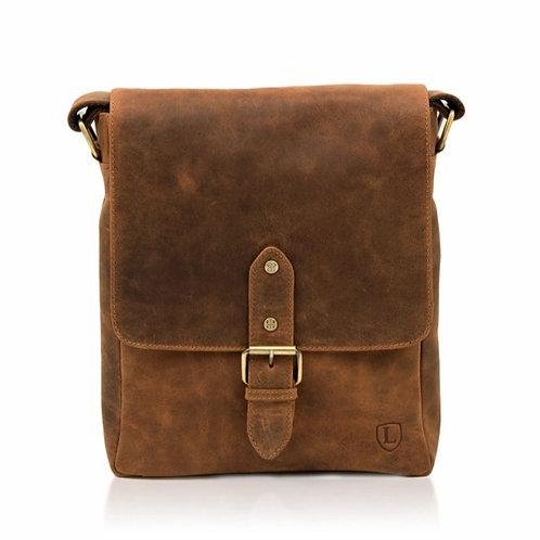 LAKELAND LEATHER Hunter Leather Messenger Bag