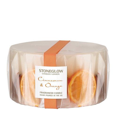 STONEGLOW Cinnamon & Orange 3-Wick Candle