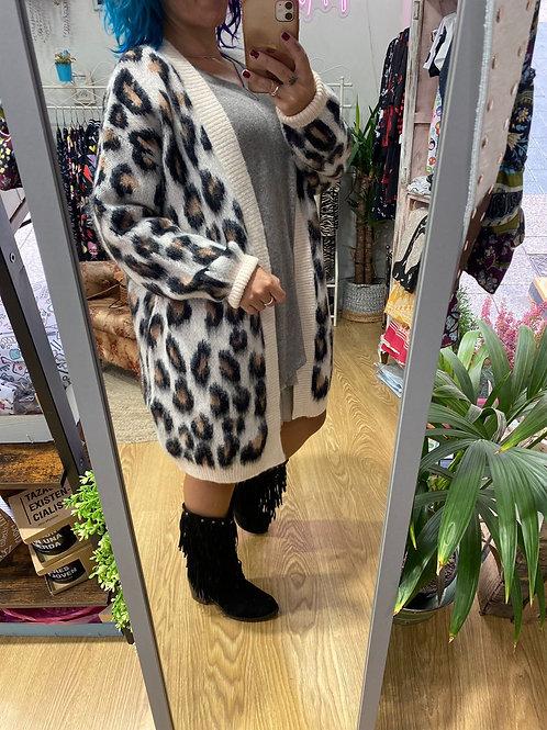 Chaqueta oversize leopardo