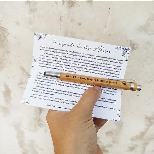 Bolígrafo ahora bambú