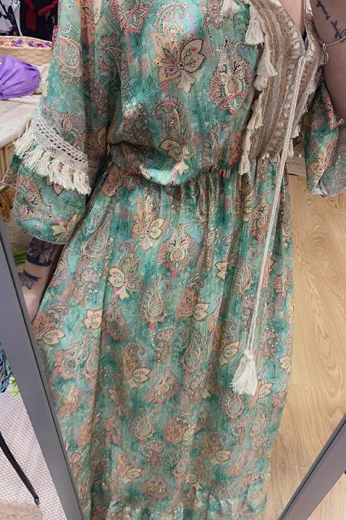 Vestido estampado cachemir