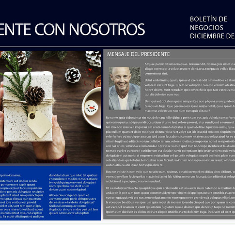 Newsletter - Count On Us in Spanish