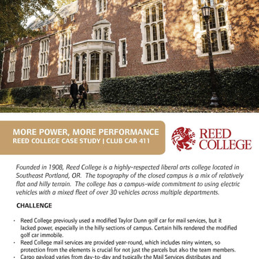 Reed College Case Study