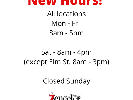 New Hours for your Convenience!