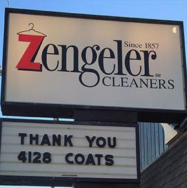 Zengeler Cleaners Signage