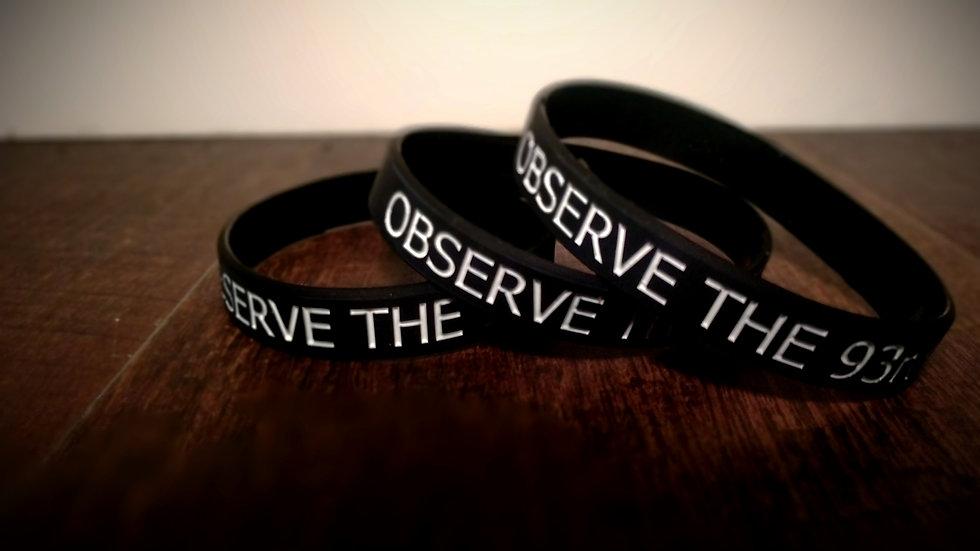 Black OT93 Wristband