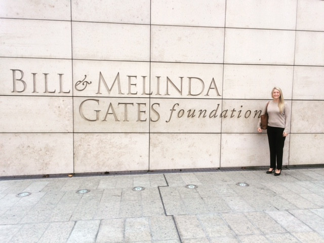 Holland at her externship for the Bill & Melinda Gates Foundation