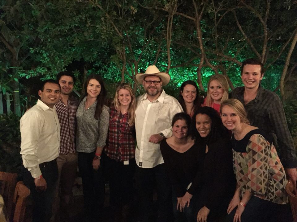 Holland and her co-workers at Bain & Company
