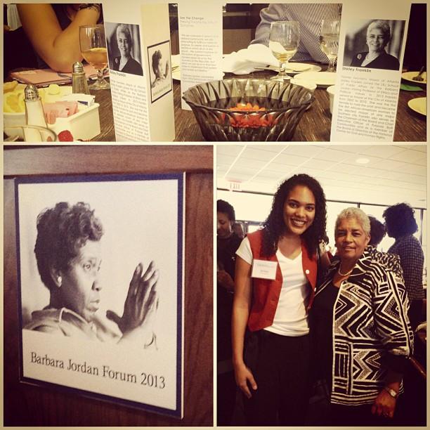 With Shirley Franklin, former two-term Mayor of Atlanta at the LBJ School of Public Affairs Barbara Jordan Forum.