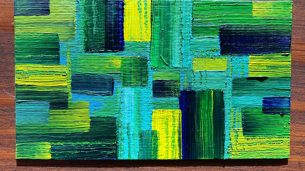 Abstract Green Squares