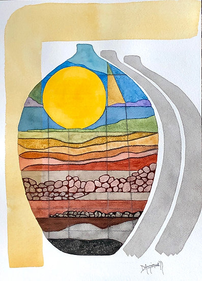 """""""A World Within"""" series, no. 1 ~ Original Watercolor Painting on Arches Paper"""